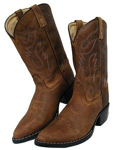Brown Crazy Horse Western Boot from Smoky Mountain Boots Brown Cowboy Boots, Cowgirl Boots, Western Boots, Western Wear, Big Men Fashion, Cheap Fashion, Fashion Boots, Western Shop, Crazy Horse