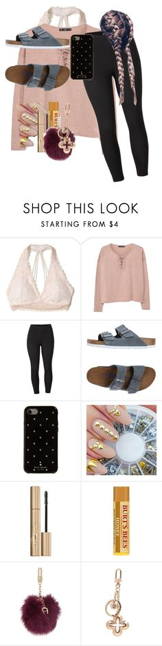 """""""Lazy day"""" by tamekaramseur on Polyvore featuring Hollister Co., MANGO, Venus, Birkenstock, Kate Spade, Stila, Etienne Aigner, Louis Vuitton and plus size clothing"""