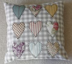 Thread sketch heart cushion | Freemotion embroidery to give … | Flickr