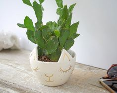 Minimal & modern , this porcelain wall planter round capsule is absolutely stunning!. It looks fantastic by itself or in a grouping of my various wall planter designs to create a statement wall with airplants, trailing plants or even a cactus and succulent mini-garden. This will completely transform your living space, enhance your decor, liven up walls and bring some nature indoors. This vessel is water-tight. It offers a hole on the back panel for hanging. A beautiful handmade planter th...