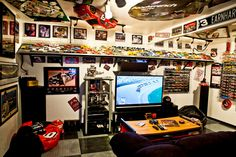 Image detail for -DIY Man Cave using a NASCAR theme featuring Legendary driver Dale ...