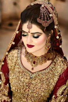 Pakistani Bridal Makeup, Pakistani Wedding Outfits, Indian Bridal Outfits, Indian Bridal Lehenga, Bridal Mehndi, Bridal Makeup Looks, Bridal Looks, Pakistan Bride, Pakistan Wedding
