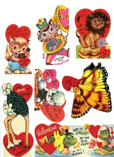 Valentine Decorations, Valentine Crafts, Holiday Crafts, Valentines Day, Vintage Valentine Cards, Vintage Greeting Cards, Diy And Crafts, Paper Crafts, Naive Art