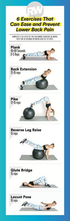 back pain exercises #InsideKneePain #ToothNervePainRelief Lower Back Pain Stretches, Back Pain Exercises, Low Back Pain, Abdominal Exercises, Pilates, Postural, Walking Plan, Glute Bridge, Nerve Pain