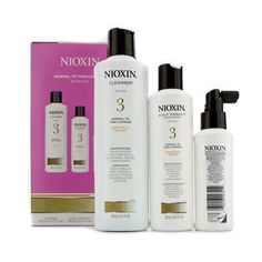 System 3 System Kit For Fine Hair Chemically Treated Normal To Thin-looking Hair: Cleanser 300ml + Scalp Therapy Conditioner 150ml + Scalp Treatment 100ml
