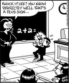 Off the Mark Comic Strip, October 2002 Math Cartoons, Funny Cartoons, Funny Comics, Funny Cute, The Funny, Hilarious, Halloween Cartoons, Halloween Fun, Halloween Humor