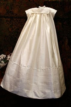 Isabel Garreton - Traditional Christening Gown, $220.00 (http://isabelgarreton.com/christening/traditional-christening-gown/)