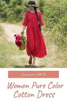 Curvy Fashion, Boho Fashion, Girl Fashion, Girls Dresses Sewing, Over 60 Fashion, Weeding Dress, Tiered Dress, Cotton Dresses, Vintage Dresses