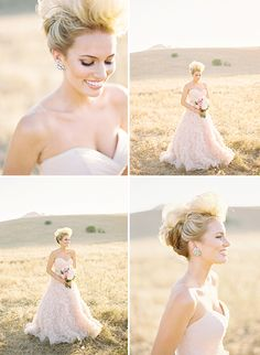 Gorgeous - seriously starting consider a bit of a blush wedding gown one day...