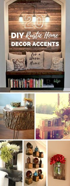 Great idea for wine wall!  20 Rustic DIY and Handcrafted Accents to Bring Warmth to Your Home Decor