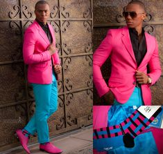 Real men wear pink...especially if it's Versace -- mystaticguard ...