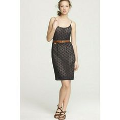 J Crew Lace Blouson Dress