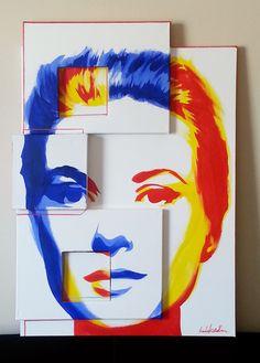 "DutyGorn ""Grace Kelly"" polyptych canvas cm – acrylic, tempera and marker – 2013 – London: A Level Art Sketchbook, Art Journal Techniques, Ap Art, Arte Pop, Aboriginal Art, Grace Kelly, Art Plastique, Art Studios, Art Lessons"