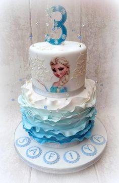 Frozen Cake - Cake by Chocomoo Elsa Birthday Cake, Frozen Themed Birthday Cake, Frozen Themed Birthday Party, Disney Frozen Birthday, Adult Birthday Cakes, Fourth Birthday, Beauty And Beast Cake, Pastel Frozen, Bug Cake