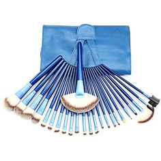 24 Pieces Makeup Brush Set Premium Synthetic Kabuki Cosmetics Foundation Blending Blush Eyeliner Face Powder Brush Makeup Brush Kit (Blue) >>> Want additional info? Click on the image. (This is an affiliate link) #ToolsAccessories