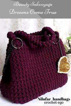 crochet ego, sakvoyage/вязаная сумка саквояж