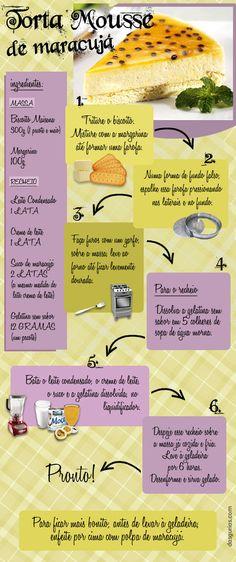 Torta de Mousse de maracujá