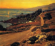 thusreluctant:  The Old Coast Road by William Wendt