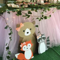 Forest animals decoration - Forest animals decoration Forest animals decoration Forest animals decoration Welcome to our websit - Fox Party, Baby Party, Animal Party, Woodland Theme, Woodland Baby, Fairy Birthday Party, Birthday Parties, Baby Shower Favors, Baby Shower Parties