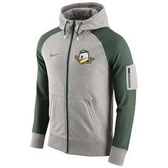 6d9c3f2b00 NIKE Nike Mens Aw77 Stadium Team First Oregon Ducks Fz Hoodie Jacket  Grey Green.