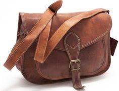 Hippie Brown Women Purse Leather Handbag Messenger by usaleather, $29.00
