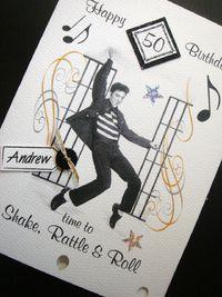 Elvis presley party invitation gabriels 3rd birthday party a elvis personalised handmade cards filmwisefo