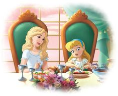 Cinderella & mother by Disney Princesses And Princes, Disney Princess Drawings, Disney Princess Pictures, Disney Princess Art, Disney Fan Art, Disney Drawings, Disney Love, Disney Pictures, Princess Melody
