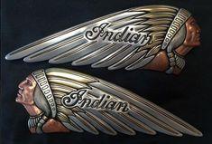 Custom Indian Motorcycle Gas Tank Emblem - #Custom #Emblem #GAS #Indian #motorcycle