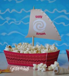 Moana Polynesian boat food snack trays and by GlitterInkDesigns