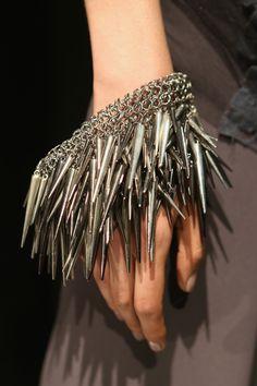 danger!!! super spiky bangles at brandon sun #MBFW