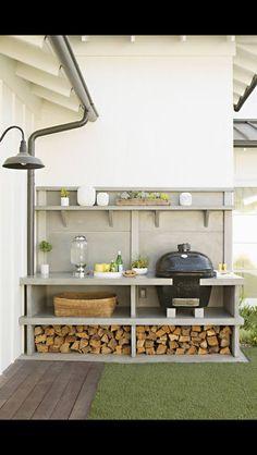 Green Egg outdoor kitchen Via BHG?