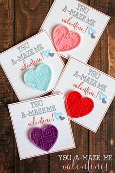 You A-MAZE Me Valentines - free printable Valentines idea! Cute non candy Valentines idea.