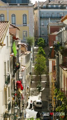 Traditional streets in Lisbon