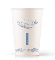 """PaperCup Design by Bizhows.com. You can see 3D rendering views and edit in """"SmileCanvas"""" to order the papercup with your own design."""