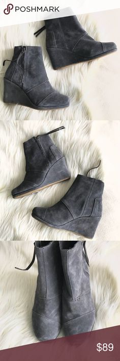 1e8048efc3f TOMS BRAND NEW Grey suede wedge ankle boots TOMS BRAND NEW Grey suede wedge  ankle boots