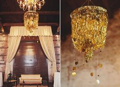 gold & sparkly wedding #decor