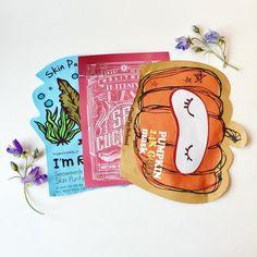 Korean Sheet Masks | KBeauty | Tony Moly Seaweed Mask | Blithe Sea Cucumber | Too Cool For School Pumpkin 24k Gold