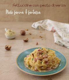 #primopiatto delizioso, facilissimo e dal sapore delicato, inaspettato. Pesto, Spaghetti, Ethnic Recipes, Food, Fantasy, Essen, Meals, Yemek, Noodle