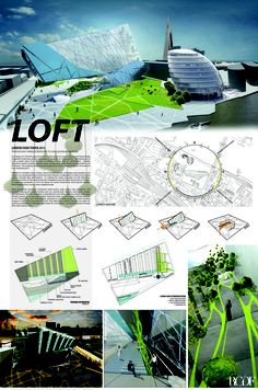 RCDF's LOFT 2011 Competition Submission, Presentation Board.  Featured in 2013 AIA Center for Emerging Professionals Annual Exhibition at the AIA National headquarters in Washington, D.C.