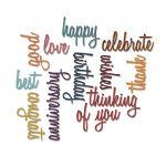 » Thinlits Archive | Tim Holtz - celebration words - script