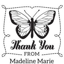 Butterfly Thank You Custom Stamp - PS design