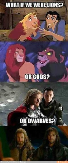 It's not Disney, but still fantastic! ///Um, the lions are from the Lion King an doesn't Disney own Marvel now? Funny Shit, The Funny, Funny Jokes, Hilarious, Funny Stuff, Memes Humor, Dc Memes, Nerd Humor, Humor Disney