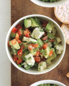Chunky Avocado and Feta Dip is a chunky guacamole alternative that serves that #avocado fix