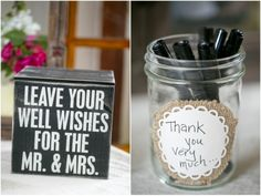 Dallas wedding photographer, advice cards for bride and groom, wedding reception ideas, McKinney Flour Mill Wedding » Mary Fields Photography