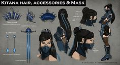 Mortal Kombat X: Fatal Gemini Pack *FAN MADE Concept Art* Kitana A skin pack I thought of for Kitana and Mileena for the upcoming Mortal Kombat X! Kitana's skin is klassicaly inspired but I made it so. Kitana Costume, Kitana Cosplay, Mortal Kombat Costumes, Mortal Kombat Cosplay, Character Concept, Character Art, Character Design, Character Sheet, Halloween Cosplay