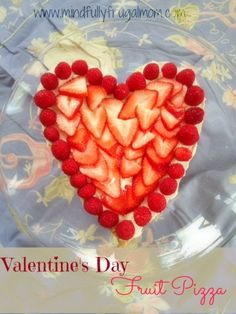 #Valentine's Day #fruit pizza