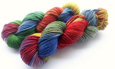 Hand painted Premium high twist sock yarn hand dyed: Winter