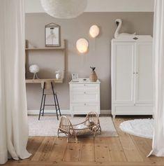 Scandinavian Nursery Furniture, Scandinavian Baby Room, Round Shelf, Hanging Rail, Baby Room Decor, Nursery Decor, Looks Vintage, Dresser As Nightstand, Furniture Collection