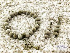 Szürke földpát karkötő és fülbevaló R.M.ékszer szett Beaded Bracelets, Jewelry, Photos, Accessories, Jewlery, Pictures, Jewerly, Pearl Bracelets, Schmuck