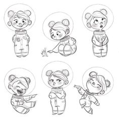 Character sketches 640988959447721076 - ArtStation – Space traveler, Aveline Stokart Source by Character Sketches, Kid Character, Character Design Animation, Character Design References, Character Drawing, Cartoon Art Styles, Cartoon Drawings, Disney Drawings, Cute Drawings